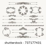 set of calligraphic design... | Shutterstock . vector #737177431