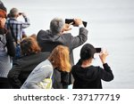 people looking and taking...   Shutterstock . vector #737177719