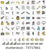 sketch icons set in color | Shutterstock .eps vector #73717861