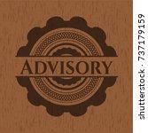 advisory wood emblem | Shutterstock .eps vector #737179159