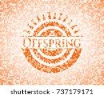 offspring abstract orange... | Shutterstock .eps vector #737179171