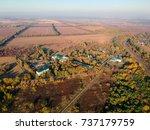 aerial views on battle of... | Shutterstock . vector #737179759