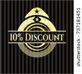 10  discount gold shiny badge | Shutterstock .eps vector #737181451