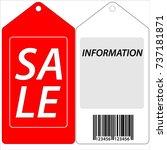 label sale | Shutterstock .eps vector #737181871