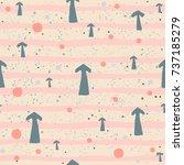 cute pattern with arrows on... | Shutterstock .eps vector #737185279