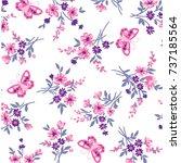 floral pattern | Shutterstock .eps vector #737185564