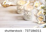 cosy and soft winter background ... | Shutterstock . vector #737186011