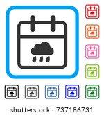 rainy day icon. flat gray...