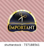gold badge or emblem with... | Shutterstock .eps vector #737188561