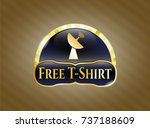 gold badge or emblem with... | Shutterstock .eps vector #737188609