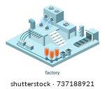 isometric 3d vector... | Shutterstock .eps vector #737188921