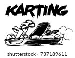 kart cartoon illustration. | Shutterstock .eps vector #737189611