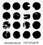 stamps collection. grunge... | Shutterstock .eps vector #737191879