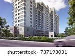 3d illustration residential... | Shutterstock . vector #737193031