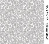 silver glitter seamless pattern.... | Shutterstock .eps vector #737195731