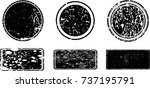 grunge post stamps collection ... | Shutterstock .eps vector #737195791