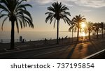promenade des anglais nice... | Shutterstock . vector #737195854