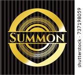summon gold badge or emblem | Shutterstock .eps vector #737198059