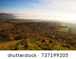 misty morning in autumn central ... | Shutterstock . vector #737199205