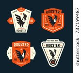 set of vintage badges with... | Shutterstock .eps vector #737199487