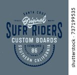 santa cruz original surf riders ... | Shutterstock .eps vector #737199535