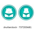 icons female body silhouette.... | Shutterstock .eps vector #737203681