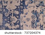 handmade color woolen carpet... | Shutterstock . vector #737204374