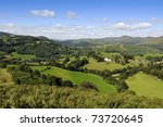 view from castell dinas bran... | Shutterstock . vector #73720645