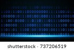abstract digital binary data... | Shutterstock . vector #737206519