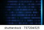 abstract digital binary data... | Shutterstock . vector #737206525