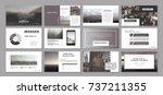 original presentation templates.... | Shutterstock .eps vector #737211355
