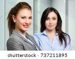 business couple  | Shutterstock . vector #737211895