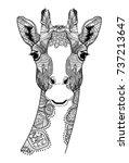 the head of a giraffe.... | Shutterstock .eps vector #737213647