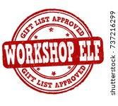 gift list approved workshop elf ... | Shutterstock .eps vector #737216299
