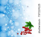 winter background with colour... | Shutterstock .eps vector #737219125