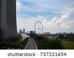 various attractions in... | Shutterstock . vector #737221654