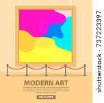 art museum of modern painting... | Shutterstock .eps vector #737223397