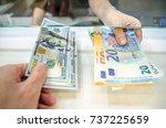 exchange money  exchange us... | Shutterstock . vector #737225659