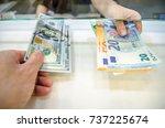 exchange money  exchange us... | Shutterstock . vector #737225674