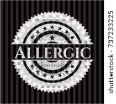 allergic silvery emblem or badge | Shutterstock .eps vector #737233225