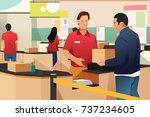 a vector illustration of man... | Shutterstock .eps vector #737234605