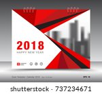 cover calendar 2018 template ... | Shutterstock .eps vector #737234671