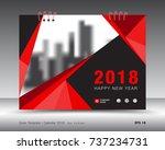 cover calendar 2018 template ... | Shutterstock .eps vector #737234731