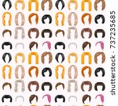 woman hair styling seamless... | Shutterstock .eps vector #737235685