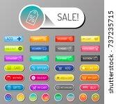 colorful website web e shop... | Shutterstock .eps vector #737235715