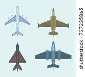 vector airplane illustration...   Shutterstock .eps vector #737235865