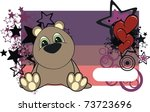 teddy baby cartoon card in... | Shutterstock .eps vector #73723696