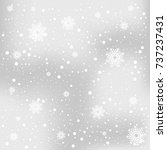 snow and winter background... | Shutterstock .eps vector #737237431