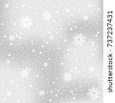 snowflake background   Shutterstock .eps vector #737237431