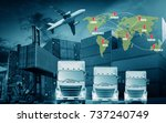 truck with cargo container and